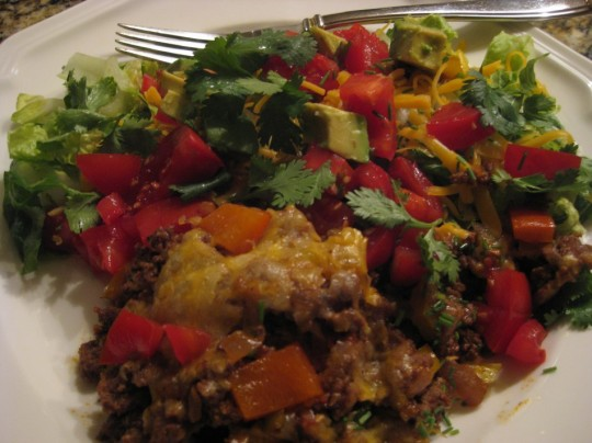 Tasty Warm Taco Salad