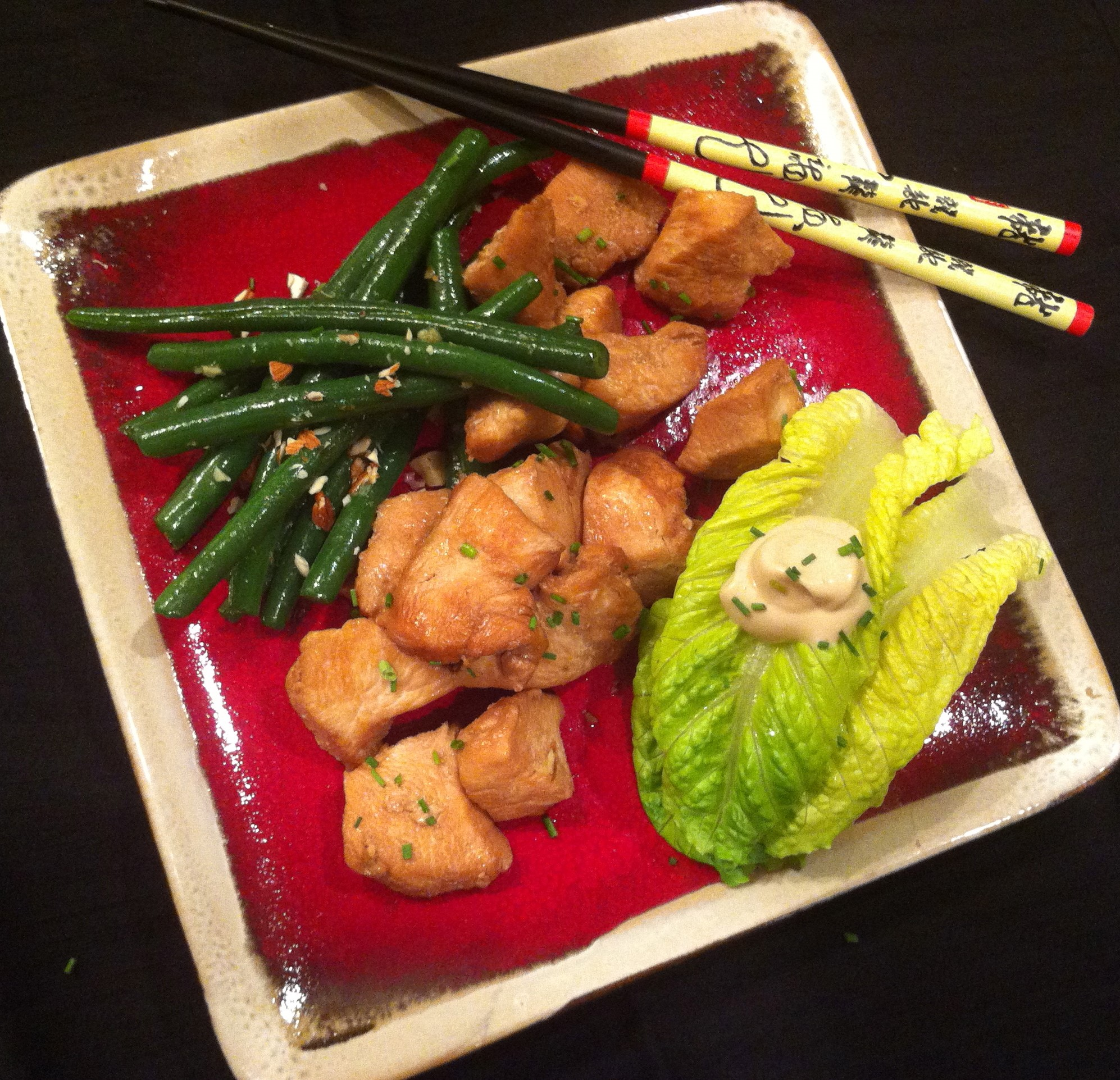 Asian Chicken Garlic Green Beans