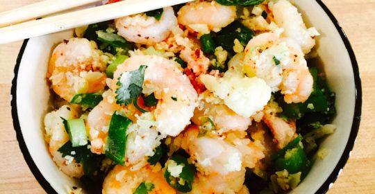 how to make shrimp fried rice with cauliflower