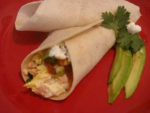 Spicy Egg Burrito 2