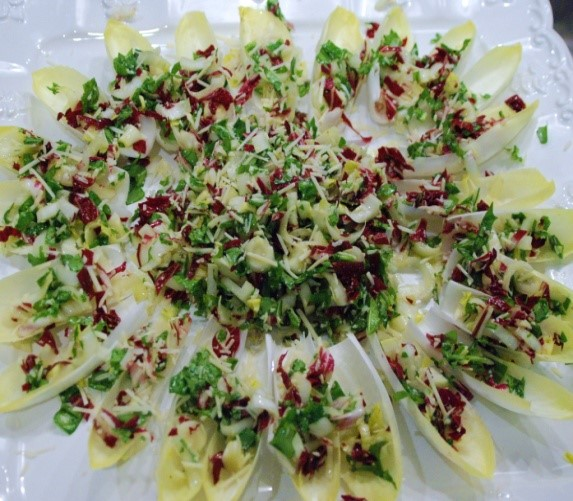 Vegetable Appetizers - Endive Salad Bites