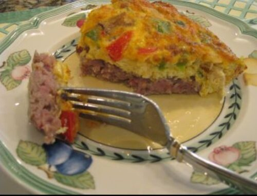 Sausage Crusted Quiche